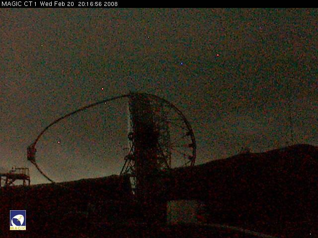 Imaging Atmospheric Cherenkov Telescope - MAGIC 1 Webcam photo 2