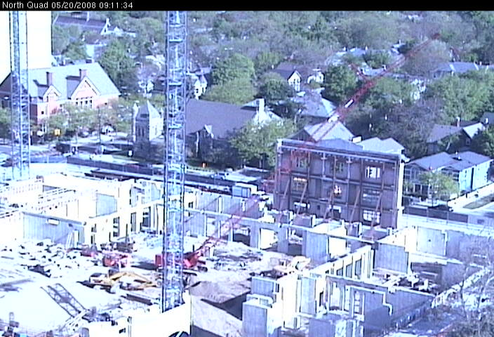 Live view of North Quad construction site from the southeast photo 3
