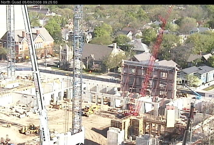 Live view of North Quad construction site from the southeast photo 1