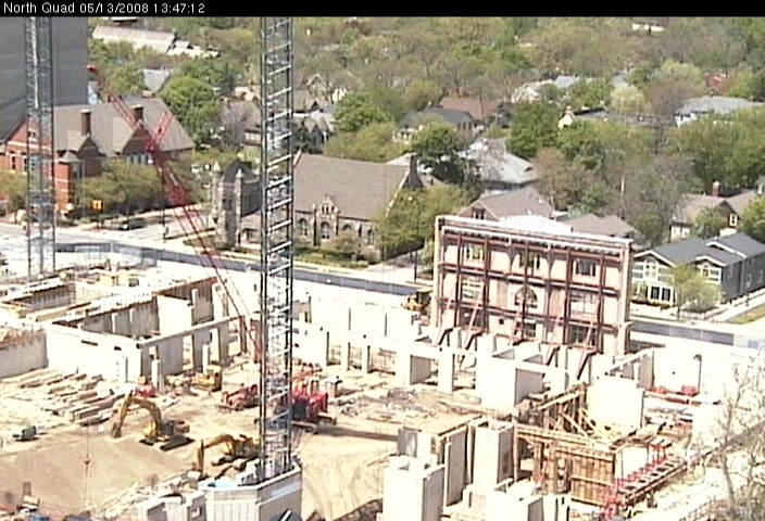 Live view of North Quad construction site from the southeast photo 2