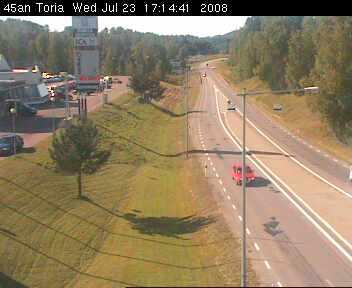 Toria crossroad - Road E45 northbound photo 6