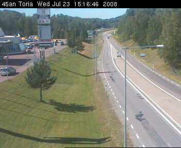 Toria crossroad - Road E45 northbound photo 5