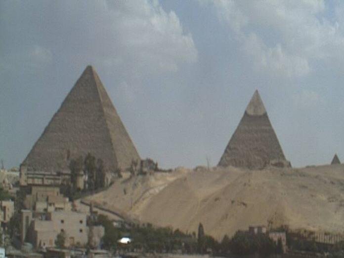 View of the Great Pyramid at Giza photo 2